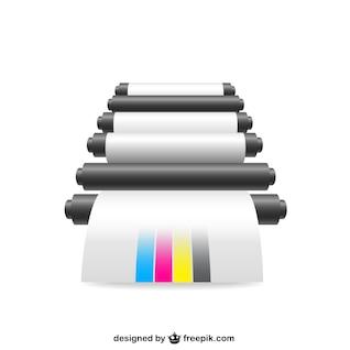 CMYK ilustración impresora