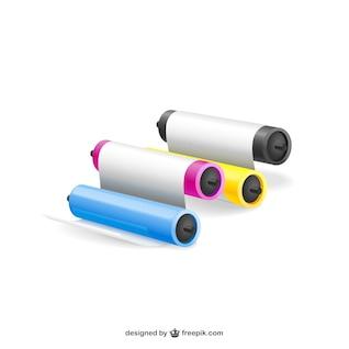 Colores de la impresora ilustraciones