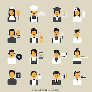 Avatares de profesiones