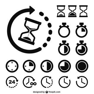 Iconos del tiempo y relojes