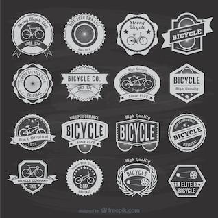 Etiquetas vintage de bicicletas