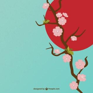 Ilustración de flor del cerezo