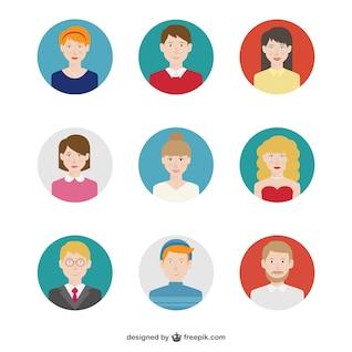 Paquete de avatares de personas