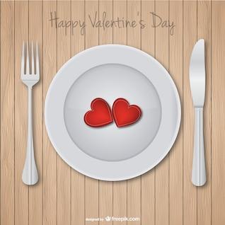 Tarjeta de cena de San Valentín