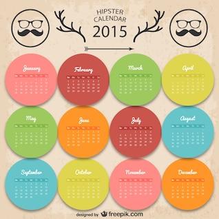 Calendario hipster colorido