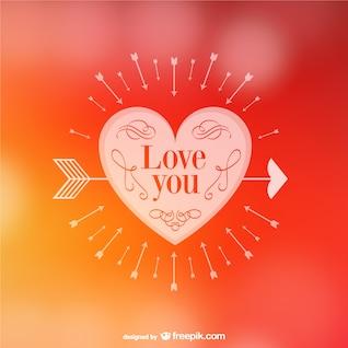 Tarjeta de amor de San Valentín