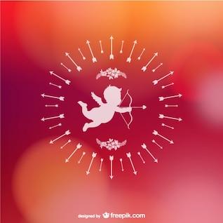 Cupido fondo de San Valentín