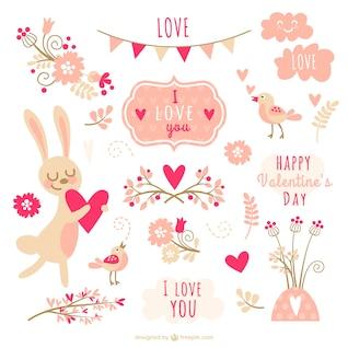 Colección del elemento del día de San Valentín