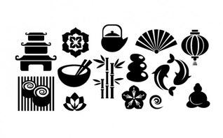 Paquete de elementos japoneses