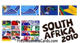 113 Copa del Mundo de Tarjetas de vectores de negocios