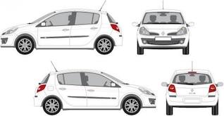 Blanco, vector coche