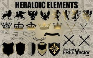 Libre de elementos del vector Heráldica