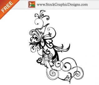 Dibujado a mano libre vectorial Floral