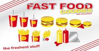 Los extras de comida rápida vectorial