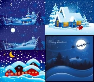 Navidad noche paisajes