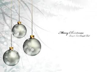 Brillantes bolas de navidad de fondo en invierno