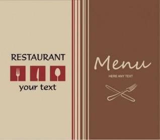 Restaurante menú de la tarjeta profesional de mirada