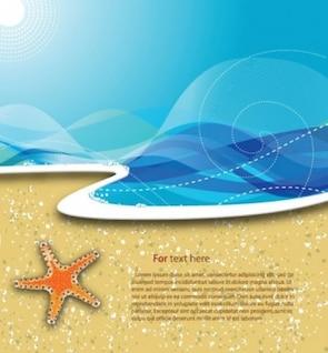 Playa de fondo vector