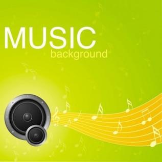 Vector gratuito vibrante música de fondo patrón de estrella de cinco puntas temblor verde amarillo limón brillante luz