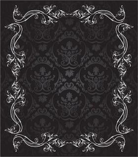 Vectores gratis misc europeo hermoso encaje negro blanco clásico elegante línea