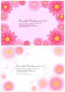 Gratis rosa amarilla linda flor de primavera blanca brillante colorido fondo hermoso vector de loto