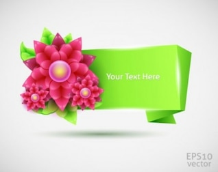 un tres dimensional fondo vector verano verde y flores decorativas