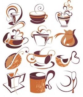 misc café elementos de calado dibujar arte tinta