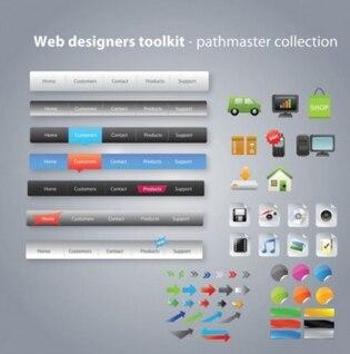 Free Vector vector de diseño de páginas web útiles herramientas de diseño Web Pack 03 vector