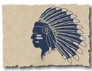 Plumas indios silueta vector