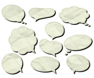 Cuadros de diálogo Blanco vector