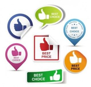 Gratis misc hermoso pegatinas etiquetas vector mejor precio en azul, verde, rosa, rojo, naranja inteligente de negocios