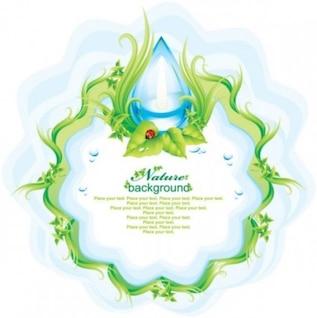 La naturaleza de fondo con gotas de agua