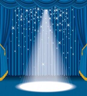 Azul brillante espectáculo etapa