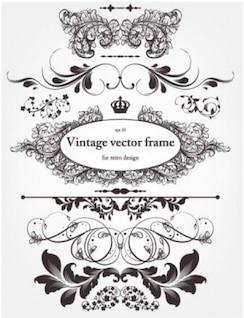 Vintage líneas de proyecto decorativo vector
