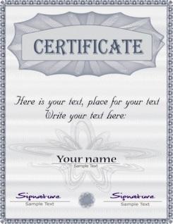 Gratis misc certificado magnífico diploma vector web textos comerciales gris brillante gorgeus inteligente
