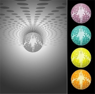 libre vector misc láser discoteca bola de cristal