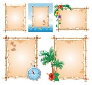 libre vector misc tema de la playa tablón de anuncios