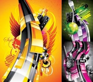 patrón vector gratis de la tendencia de los carteles de música