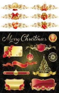 libres del vector Navidad elementos de diseño