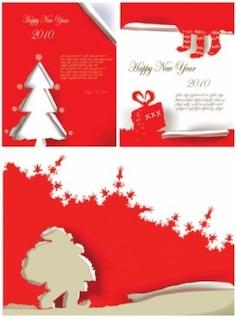 libre vector christmas poster