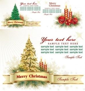fondo libre vector hermosa tarjeta de felicitación de la Navidad