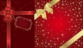 Gratis embalaje festivo fondo vector oro rojo brillante estrella roja regalo hermoso inteligente lindo