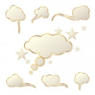 Los cuadros de diálogo en forma de nubes vector