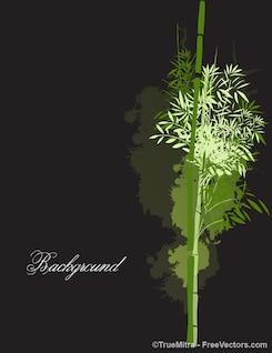 Bambú de la silueta del árbol de vectores de fondo