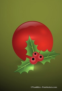 Red christmas vector elemento