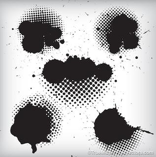 Salpicaduras de tinta negro de fondo