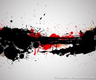 Manchas de sangre, fondo artístico