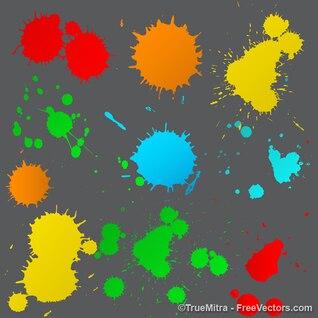 Salpicaduras de pintura de texturas de fondo conjunto de vectores
