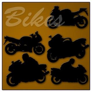Bicicletas formas personalizadas PSD