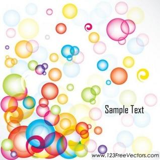 Burbujas de colores flotando paquete de vectores